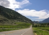 """Road # 3A south from Keremeos to the """"Forbidden Fruit winery""""."""