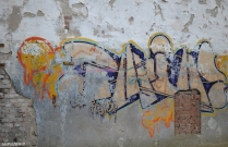 Even an old wall covered with graffiti is a piece of art