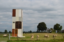 Watch Tower by Jos Verschaeren. Have you ever seen a watch tower, solely constructed from doors? Because of all the doors it is difficult to find the entrance. Once inside, you can climb up for a breathtaking view of the Maas and the surrounding scenery.