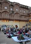 Listening to the Strings of Rajashan, Sarangi and Kamaycha, at the Daulat Khana Chowk
