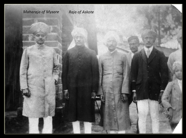 Maharaja of Mysore with Raja of Askote and others_wp