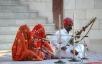 Rajasthani singers and Rawanhathha player