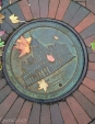 Even the manholes look pretty.
