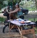 Tika massage at the market