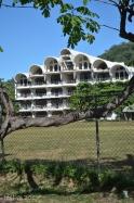 The huge, unfinished building