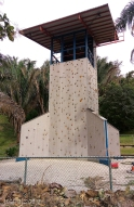 Nosara's climbing wall, right behind the school