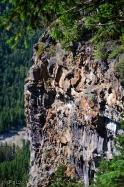 The rock wall at Spahats Falls