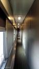 Narrow hallway through the train
