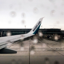 Departure from Ottawa in the rain