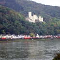 View over the Rhine of Schloss Stolzenfels
