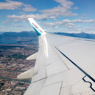 Flying over Vancouver